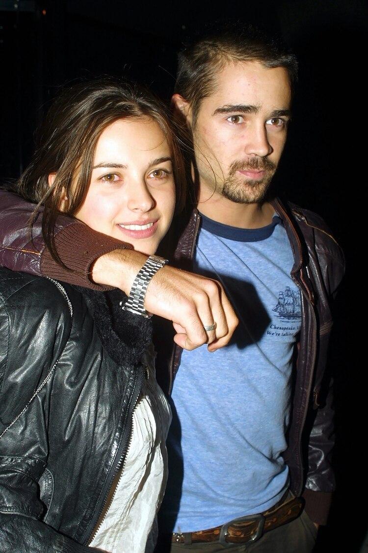 Colin Farrell y su ex esposa Amelia Warner en 2001 /Shutterstock