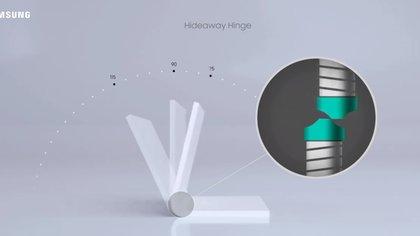 La tecnología de bisagra oculta proporciona un plegado suave, lo que permite bloquear la pantalla en diferentes ángulos