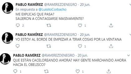Los mensajes de Pablo Ramírez sobre las manifestaciones en contra de la expropiación de Vicentin
