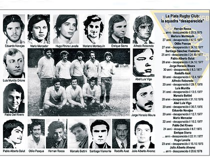La foto del seven del club La Plata, y las caras de rugbiers desaparecidos de la institución