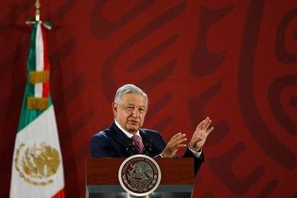 El presidente de México, Andrés Manuel López Obrador, durante su conferencia de prensa diaria en el Palacio Nacional (Foto: REUTERS / Carlos Jasso)