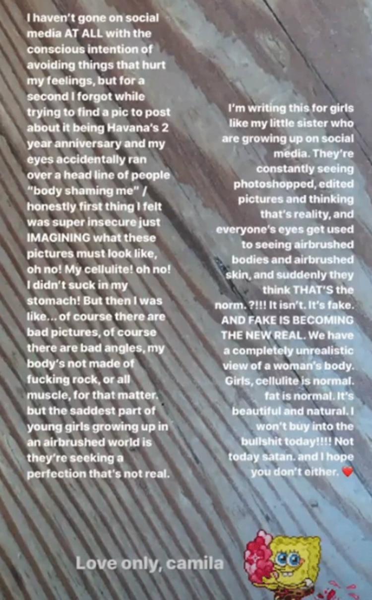 La respuesta de Camila a quienes la criticaron