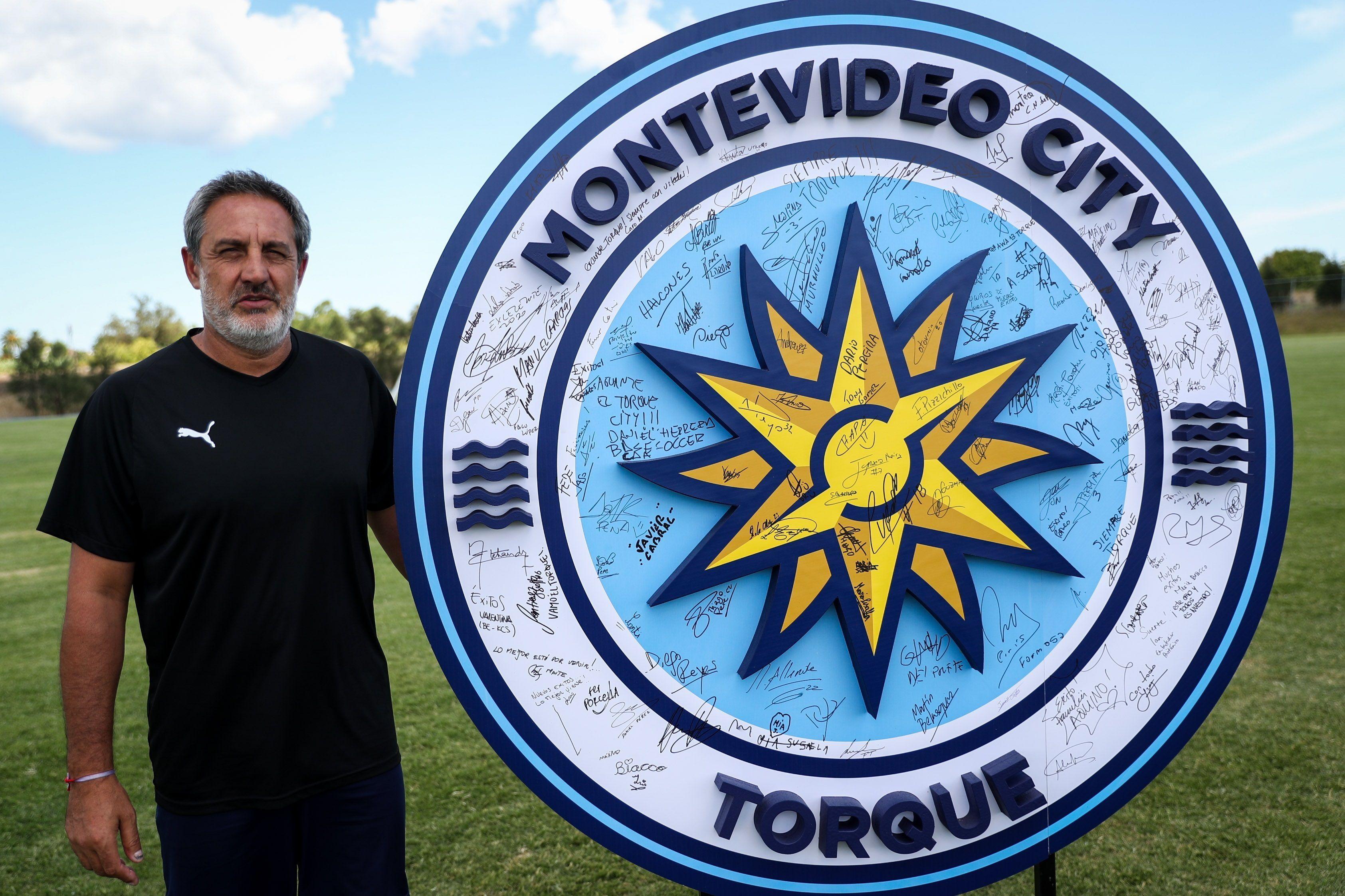 En la imagen un registro del entrenador del club uruguayo de fútbol Montevideo City Torque, Pablo Marini. EFE/Federico Anfitti/Archivo