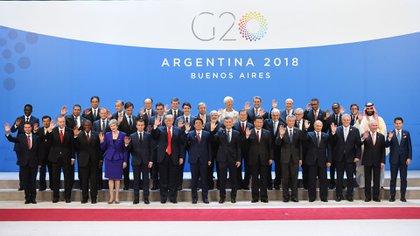 La primera foto de familia del G20 Argentina (Manuel Cortina)