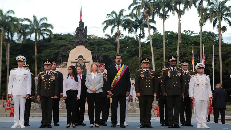 El acto por el Día del Ejército en Venezuela (Reuters)