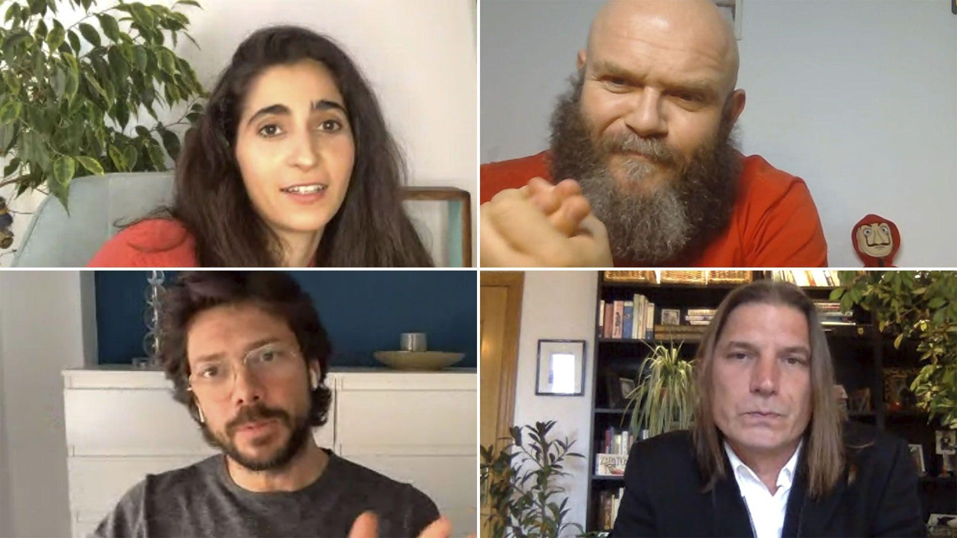 Alba Flores, Darko Peric, Álvaro Morte y Luka Peros