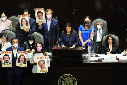 Durante su intervención, Sandoval defendió la polémica supresión la semana pasada de 109 fideicomisos públicos dedicados a emergencias, ciencia y protección a los derechos humanos, como parte del combate a la corrupción. (FOTO: DANIEL AUGUSTO /CUARTOSCURO)