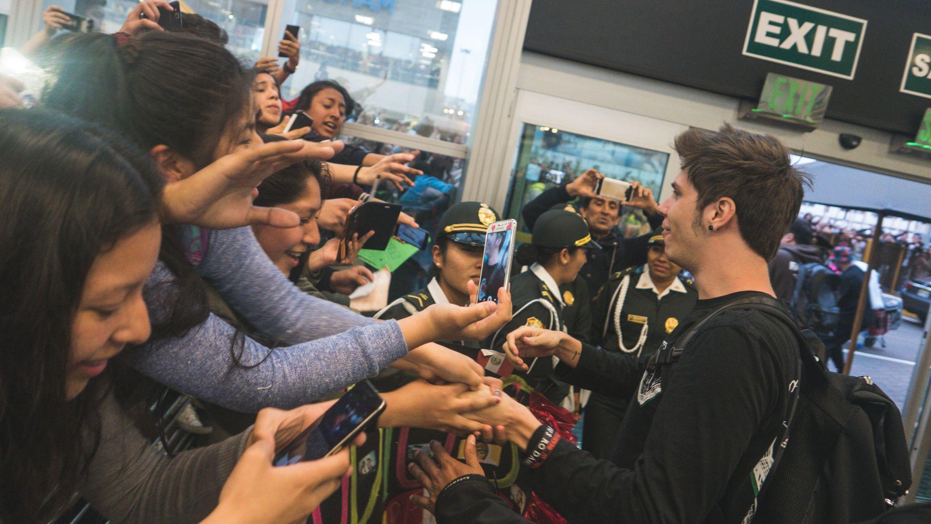 Rubius con sus fans