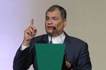 En la imagen, el expresidente de Ecuador Rafael Correa. EFE/Mario Guzmán/Archivo