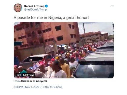 Las imágenes de Nigeria que compartió Trump