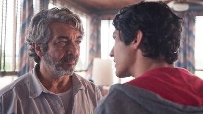 """Ricardo Darín y el Chino Darín en """"La odisea de los giles"""""""