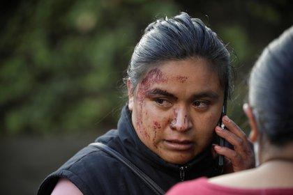 El rostro de una mujer que perdió a un familiar en el sitio del atentado. (Foto: Reuters)