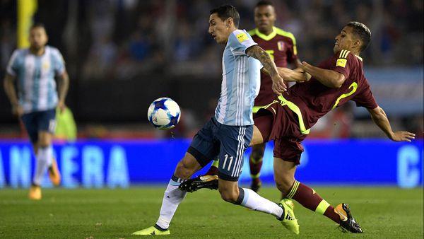 Dudamel se sumó a la previa de Argentina - Venezuela