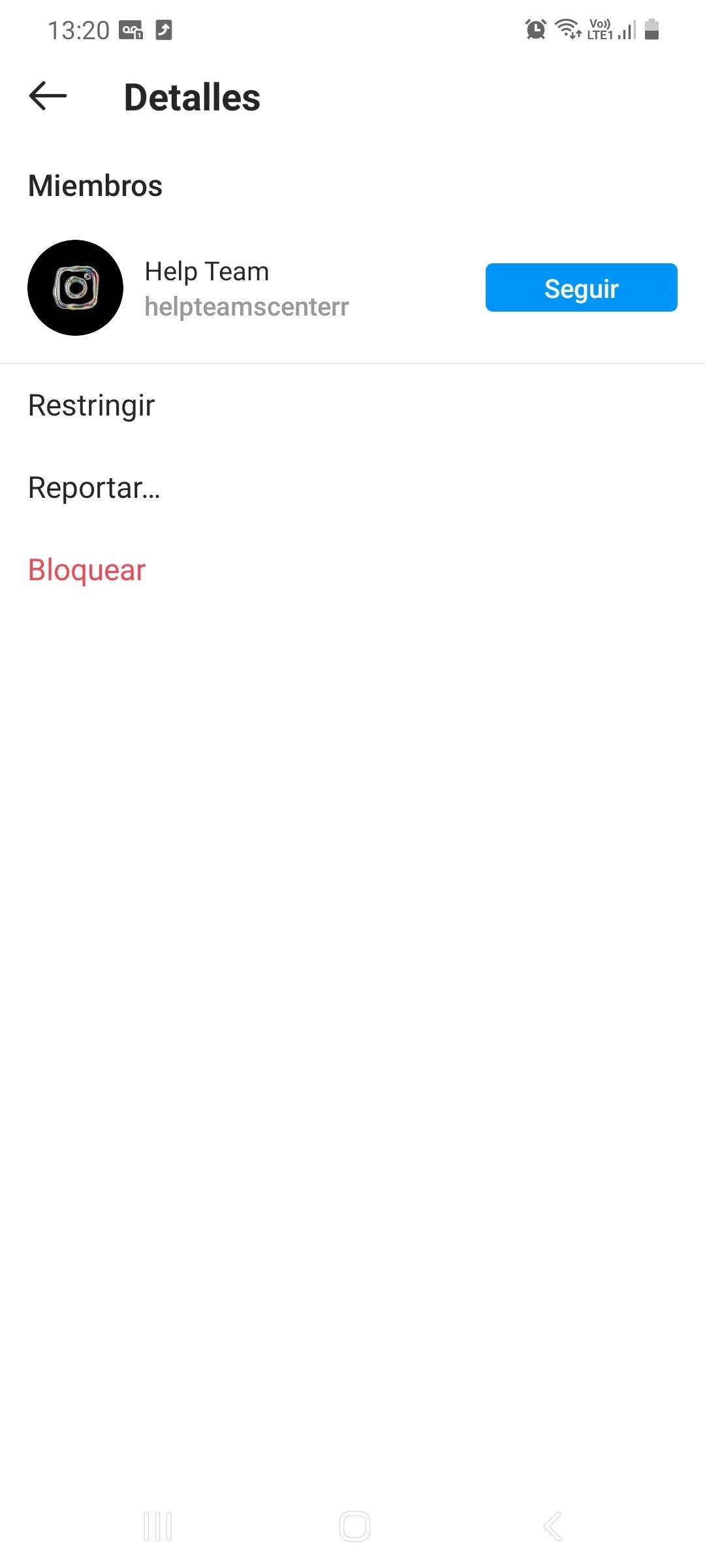 Reportar cuentas en Instagram