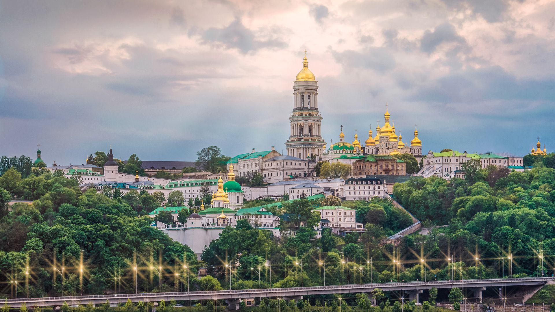 La ciudad de Kiev, capital de Ucrania.