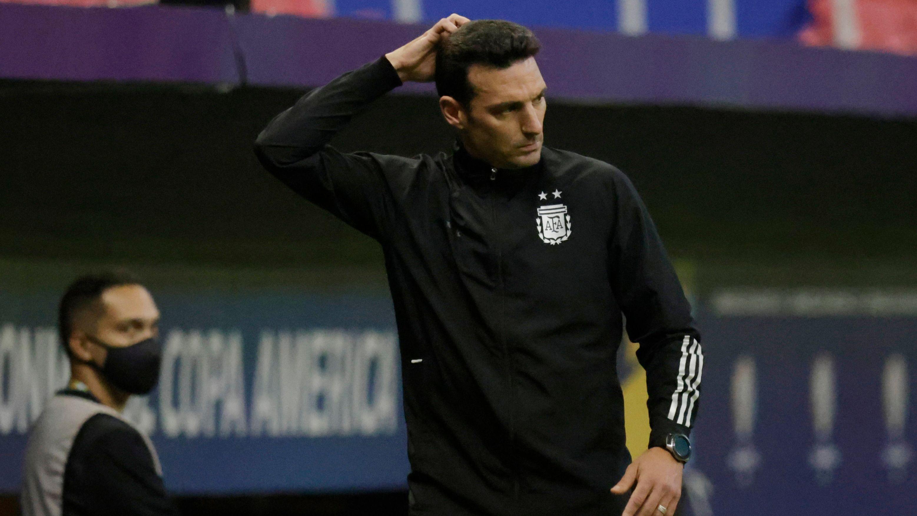 Lionel Scaloni, entrenador de la selección argentina (REUTERS/Ueslei Marcelino)