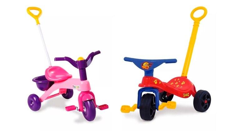 Primer triciclo: para nenas $1.700 y para nenes $989(74% más)