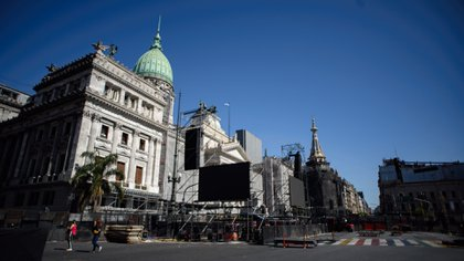 La Plaza del Congreso se volverá a dividir en dos