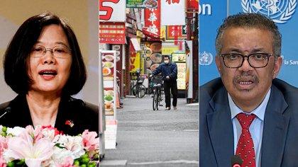 La presidenta de Taiwán Tsai Ing-wen y el director general de la OMS Tedros Adhanom Ghebreyesus (AP-Reuters)