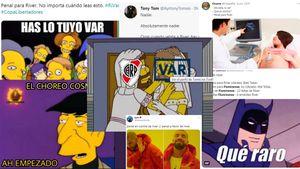 """""""Penal para River"""": los hinchas de Boca inundaron las redes con memes tras el empate del Millonario ante Fluminense por la Libertadores"""