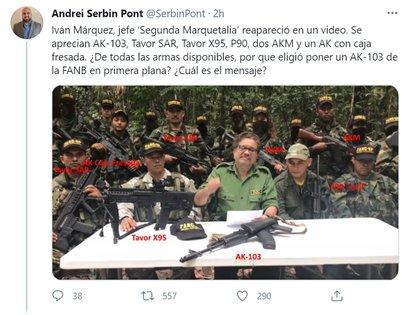 El tuit del analista internacional Andrei Serbin Pont