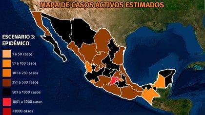 Mapa del coronavirus en México 23 de abril: la mitad del país en alerta por incremento de contagios