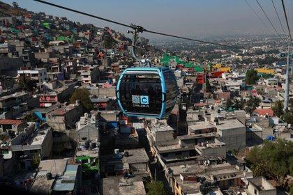 Este jueves fueron inauguradas las primeras dos estaciones de la Línea 1 del Cablebús, en la colonia Cuautepec, de la alcaldía Gustavo A. Madero, en la Ciudad de México. (Foto: EFE/ Carlos Ramírez)