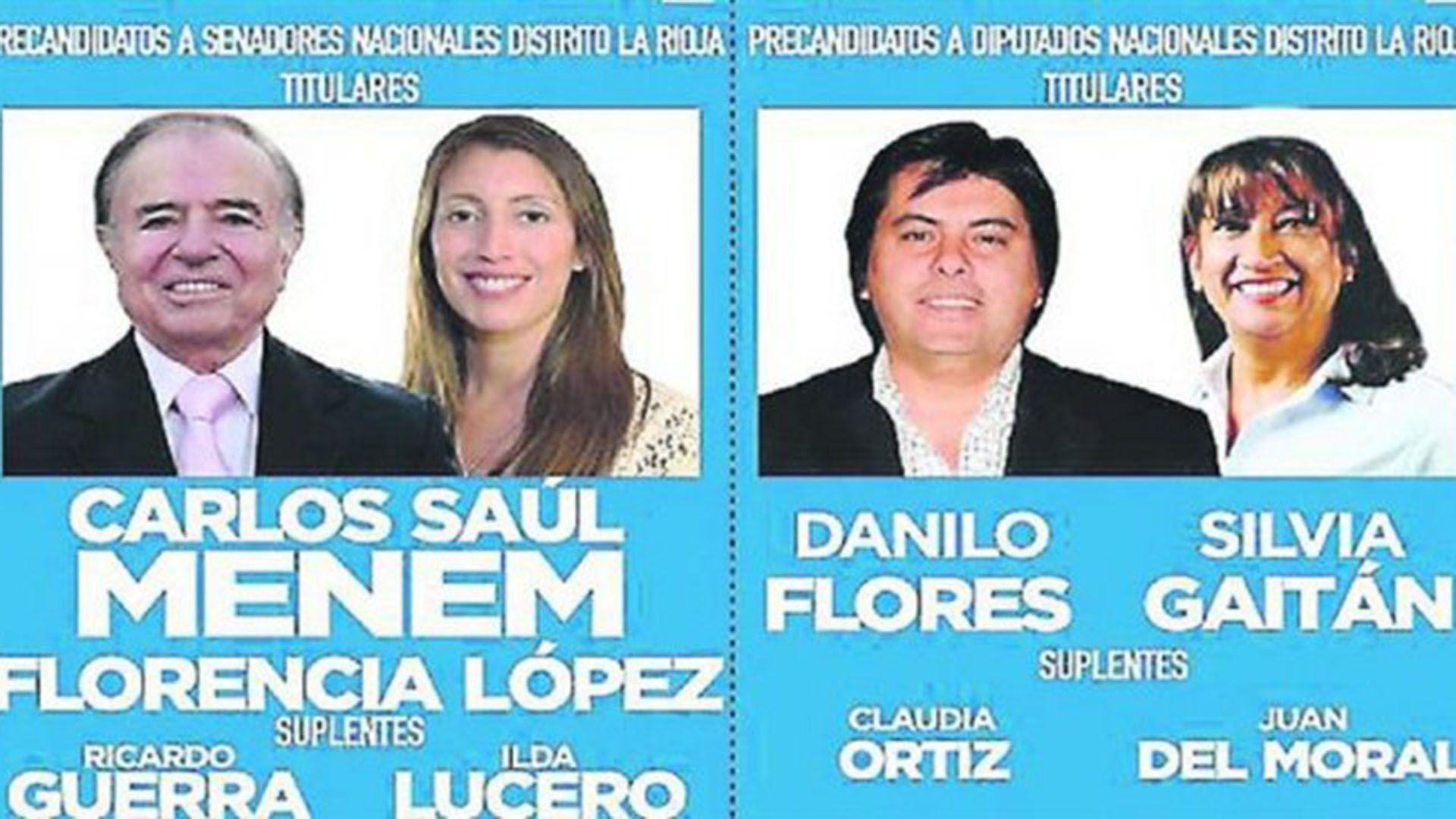 En 2017 Menem fue electo senador nacional por La Rioja: López lo acompañó en la boleta y Guerra fue como primer suplente