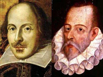 William Shakespeare y Miguel de Cervantes Saavedra.