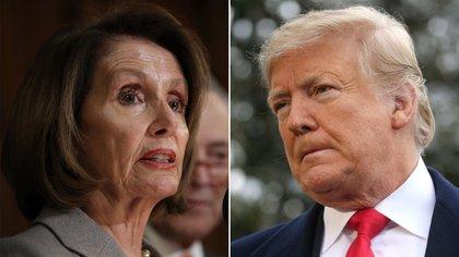 Nancy Pelosy y Donald Trump