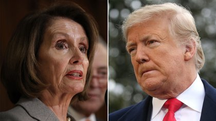 Donald Trump ha mantenido un fuerte cruce con Nancy Pelosi, presidenta demócrata de la Cámara Baja