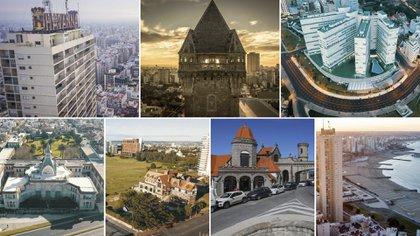 La variada arquitectura de Mar del Plata ofrece torres, hoteles, edificios modernos y construcciones antiguas de granvalor patrimonial