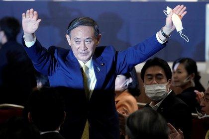 Yoshihide Suga. Eugene Hoshiko/Pool via REUTERS