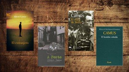 """4 libros clave de Albert Camus: """"El extranjero"""", """"La peste"""", """"El mito de Sísifo"""" y """"El hombre rebelde"""""""