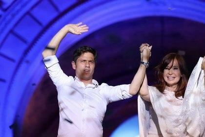 Axel Kicillof y Cristina Kirchner el día en que el peronismo ganó la última elección (REUTERS/Matias Baglietto)