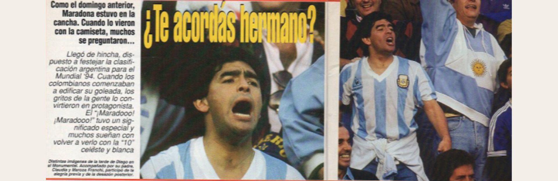 recorte de Maradona en Argentina 0-5 Colombia