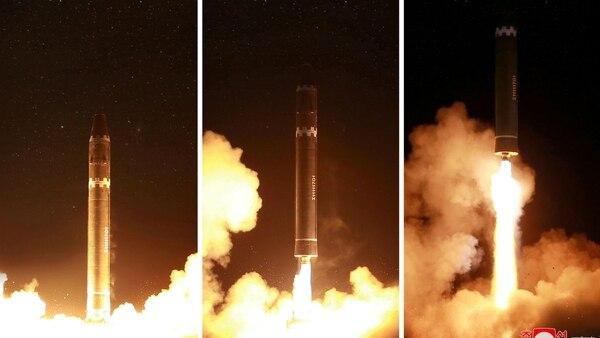Secuencia del lanzamiento del Hwasong-15