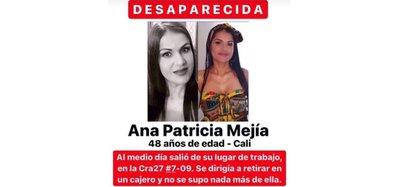 Lo último que se supo de Ana Patricia Mejía fue que se dirigía a un cajero en el barrio El Cedro. Foto: Cartel tomado de redes sociales