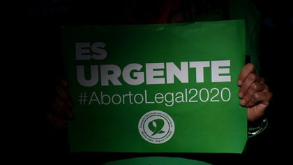 """""""Es urgente, aborto legal 2020"""", reclamaron este año desde los feminismos (Nicolás Stulberg)"""