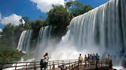 El Parque Iguazú se puede disfrutar y recorrer prácticamente en un 90% con condiciones de accesibilidad para todas las discapacidades (Télam)