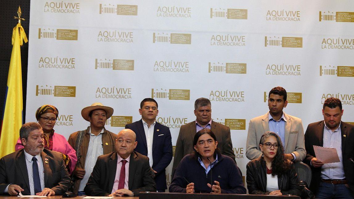 Congresistas de oposición en Colombia. Foto: Colprensa.
