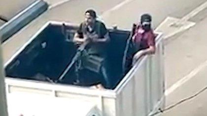 Los sicarios usaron una metralleta que dispara más de 500 tiros por minuto (Foto: captura de pantalla)