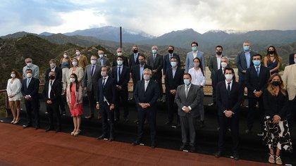 Alberto Fernández durante el encuentro del Gabinete federal que se llevó adelante ayer en Chilecito, La Rioja (Presidencia)