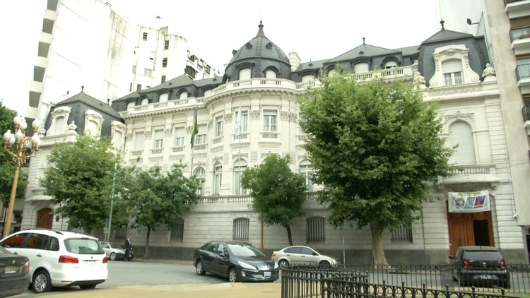 El Palacio Pereda alberga a la Embajada de Brasil en Argentina