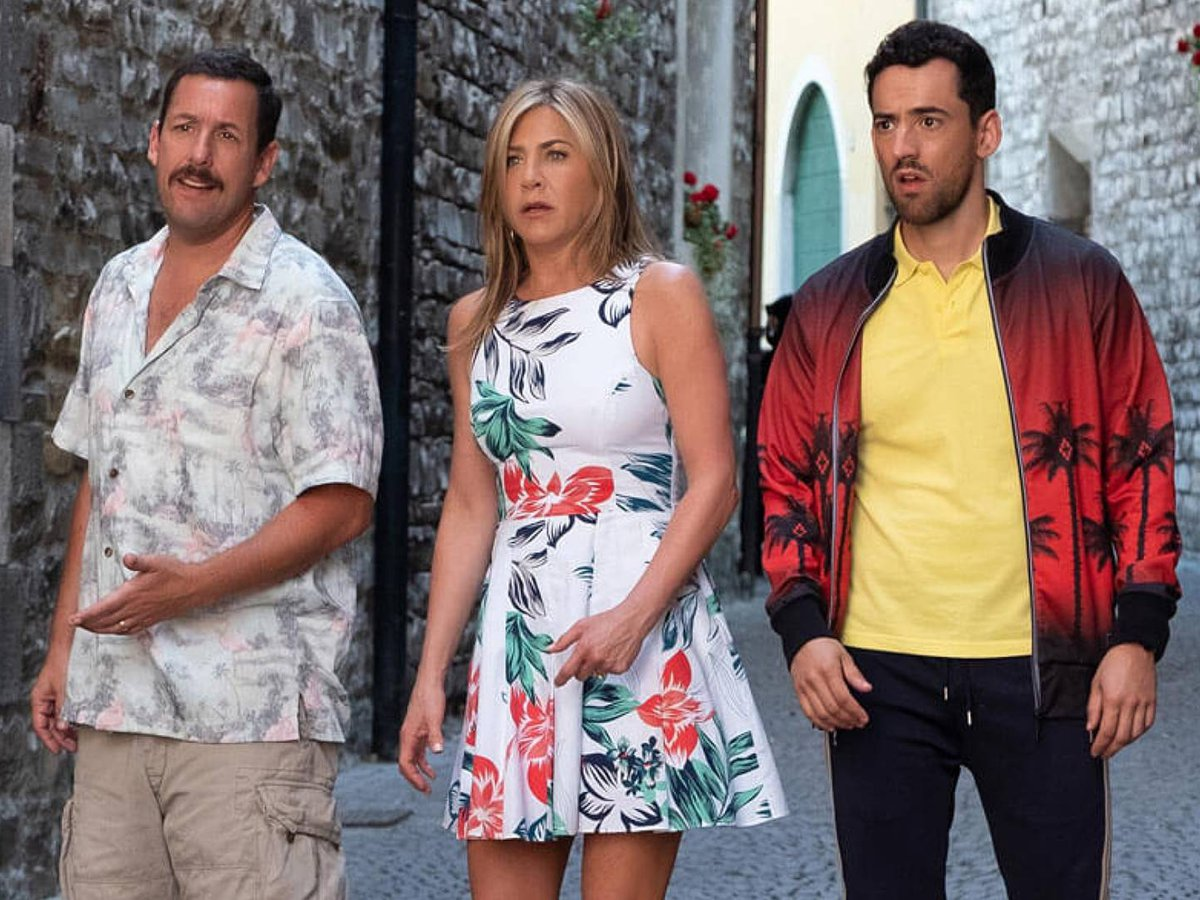Murder Mystery Batió Récord En Netflix Con Jennifer Aniston Adam Sandler Y Luis Gerardo Méndez Infobae