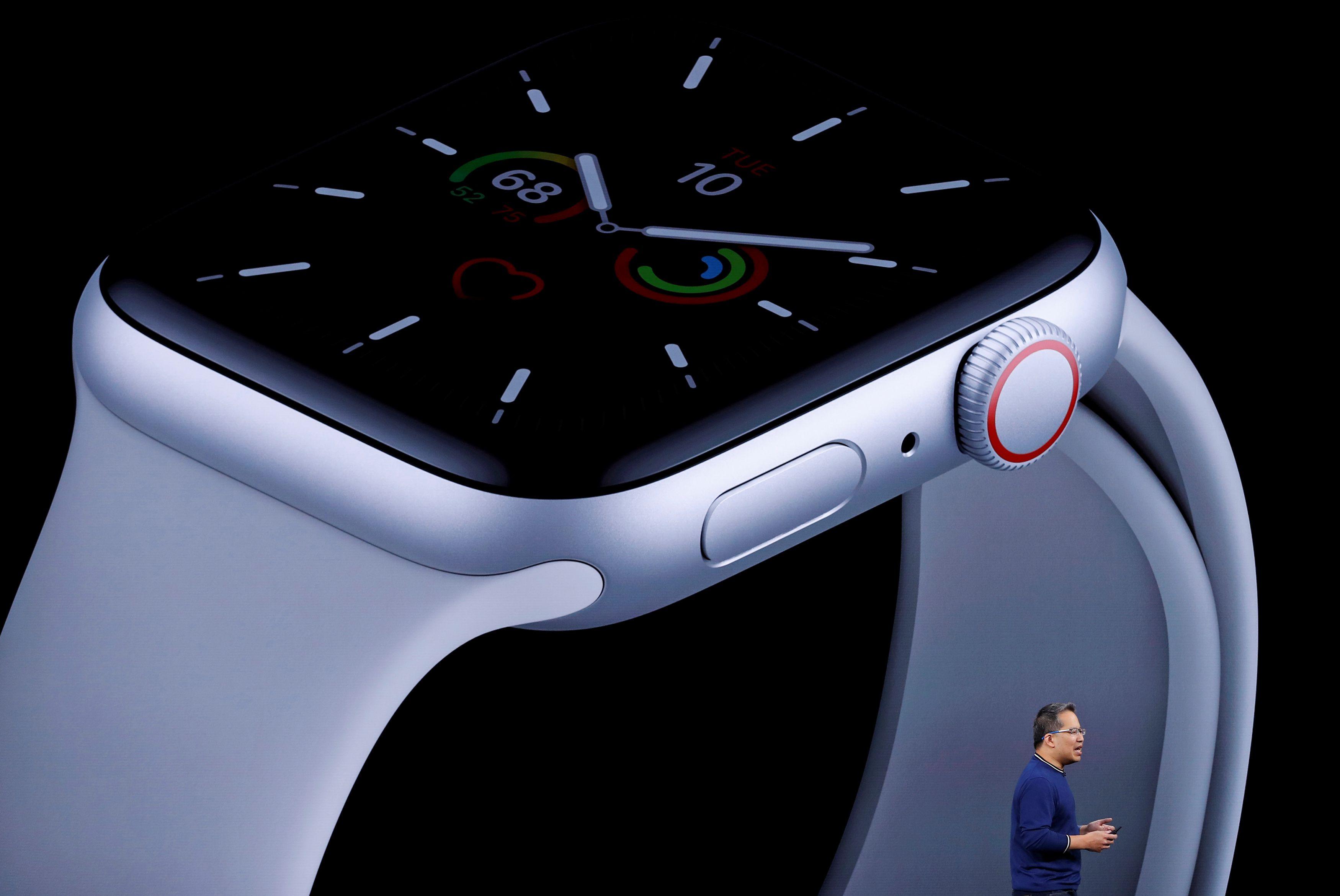 Stan Ng durante la presentación del nuevo Apple Watch en Cupertino, California, el 10 de septiembre de 2019. (REUTERS/Stephen Lam/File Photo)