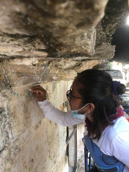 Se estima que a inicios de diciembre terminen su jornada de labores y para el 2021 hagan otros restauraciones en Palenque (Foto: Cortesía INAH)