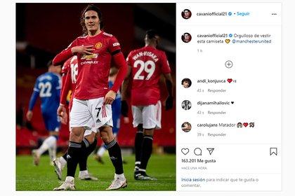El posteo de Edinson Cavani en medio de los rumores de su llegada a Boca