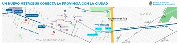 Resultado de imagen para El metrobús de la ruta 8 llega a la General Paz