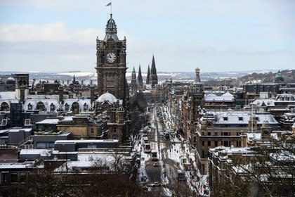 Una vista general de Edimburgo, Escocia (Andy Buchanan / AFP)
